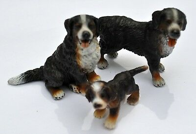 Schleich Bernese Mountain Dog lot of 3 Adult Male, Female & Puppy retired