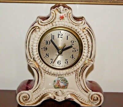 Antique Gilbert Mantel Clock Running For Parts or Repair