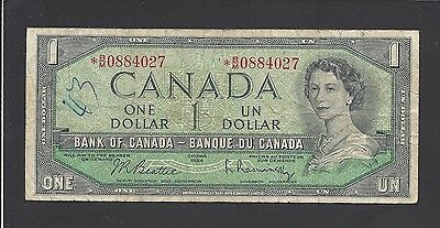 Canada - One dollar  1954  * star  replacement  *