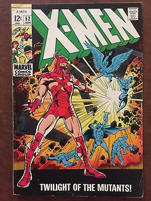 The X-Men #52 (Jan 1969, Marvel) ERIC THE RED