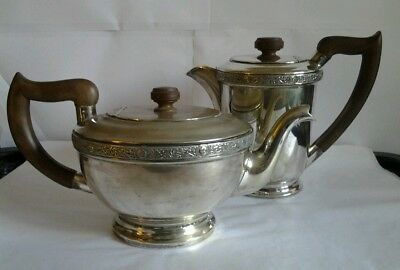 Pair of Vintage Silver Plated EPNS Sheffield Viners Tea / Coffee Pots