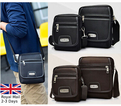 Men Small Quality Nylon Shoulder Messenger Crossbody Bum Waist Phone Bag