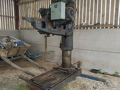 asquith radial arm pillar drill and table GWO