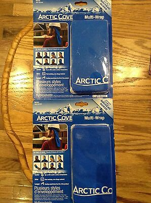 """Arctic Cove Multi-Wrap Cooling Towel ChillStitch Technology 10""""x20"""" LOT OF 2 NEW"""