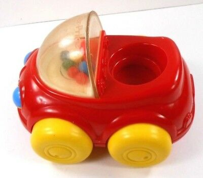 Fisher Price Little People 1 Vintage Poppity Pop Car Ball Popper 1992 Red