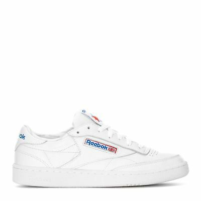 f0082f7f6201 MEN Reebok Club C 85 SO Trainers CLASSIC White premium tumbled leather  Comfort