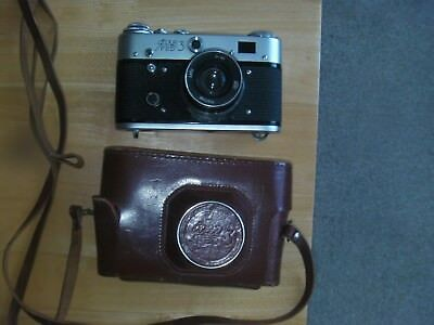 Vintage FED3 Camera, Original 52mm 2.8 lens Rare Film Camera & case,made in USSR