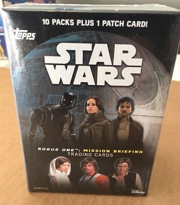 2016 Topps Star Wars Rogue unica - Missione Briefing BLASTER SCATOLA (1 CARTA)