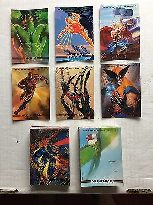 1993 Marvel MASTERPIECES COMPLETO 90 CARTA Set nm-mt CONDIZIONE DAREDEVIL X-MEN