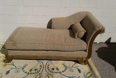 Chaise Lounge Chair Storage Vintage Antique Style Sofa Couch Furniture