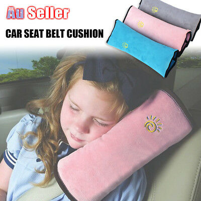 Kids Car Short Plush Seat Belt Shoulder Pad Cover Pillow Cushion Head Support