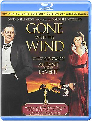 NEW BLU RAY- GONE WITH THE WIND  70th ANNIVERSARY - Clark Gable, Vivien Leigh,