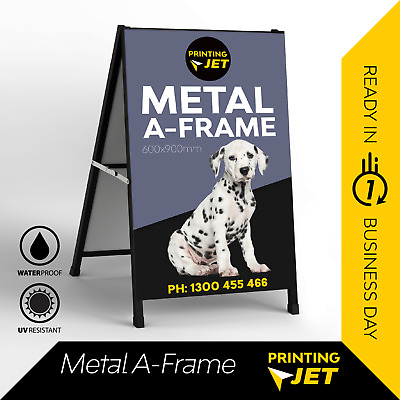 Outdoor Double Metal A Frame Board Display Sign Stand [Sandwich Board]