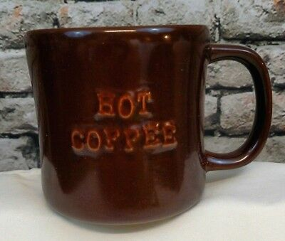 A 2010 Starbucks Brown Hot Coffee Cup Mug Bone China Porcelain Great Shape (A)