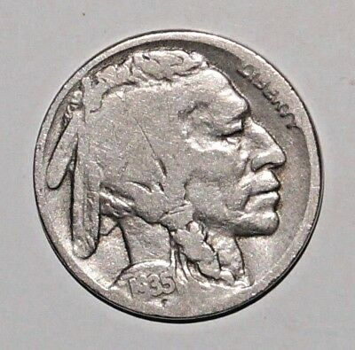 1935 BUFFALO NICKEL flat ground UNITED STATES Philadelphia mint (6)