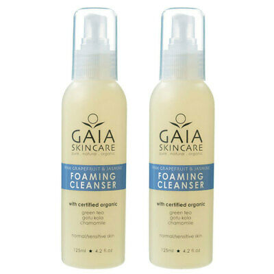 Gaia 250ml Natural/Organic Jasmine Foaming Cleanser Facial/Face/Vegan Friendly