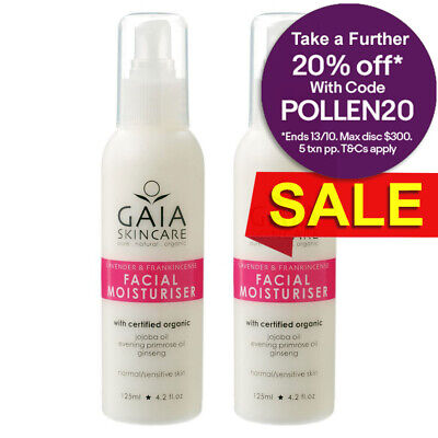 Gaia 250ml Pure/Natural/Organic Lavender/Facial/Face Moisturiser/Vegan Friendly