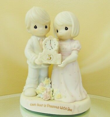 """New Enesco Precious Moments """"Each Hour Is Precious With You"""" Collectible Figurin"""