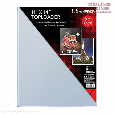 """Ultra Pro Specialty Series Toploader 11"""" x 14"""" Comic Magazine Documents Pkt 20"""