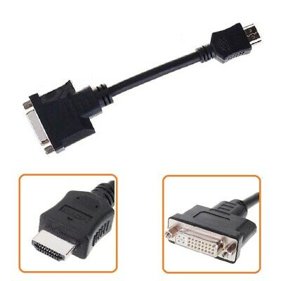 HDMI Male to DVI-I DVI 24+1 Cable Female Cable Cord Adapter DVD Dual Link HDTV