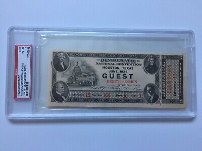 1928 Democratic National Convention FULL Ticket AL SMITH First Catholic PSA Pass