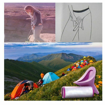 Women Portable Urinal Travel Outdoor Stand Up Pee Urination Device Case