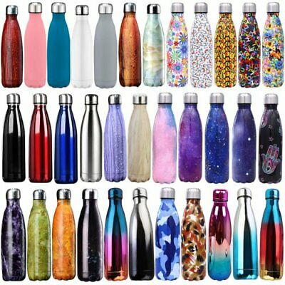 Insulated Double Wall Thermos Vacuum Flask Drink Water Bottle Stainless Stell