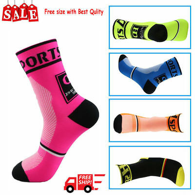1pair Men Women Riding Cycling Sports Socks Unseix Breathable Bicycle FootwearFZ