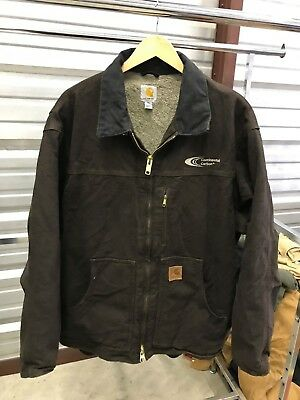 MENS 2XL - Carhartt C61 Sandstone Sherpa Quilted Ridge Coat Jacket