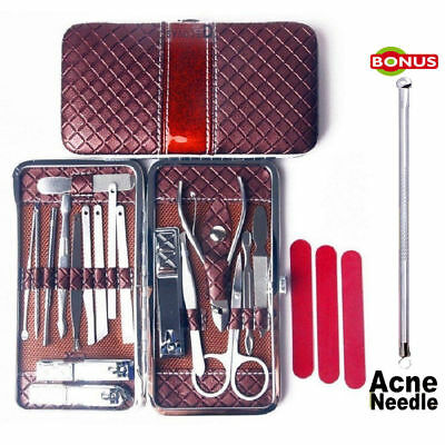18pcs Nail Care Cutter Kit Set Cuticle Clippers Pedicure Manicure Men Women Tool