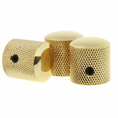 3pcs Gold Metal Electric Guitar Knobs Dome Knob For Fender Tele Telecaster Parts