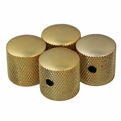 4pcs Gold Metal Electric Guitar Knobs Dome Knob For Fender Tele Telecaster Parts