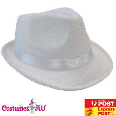 Adult 1920s Gangster 20s Hat White Gatsby Party Mens Cowboy Costume Accessories