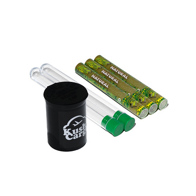 Cyclones Pre Rolled Natural Hemp Cones with Cone Tubes and Pop Top 3 Packs