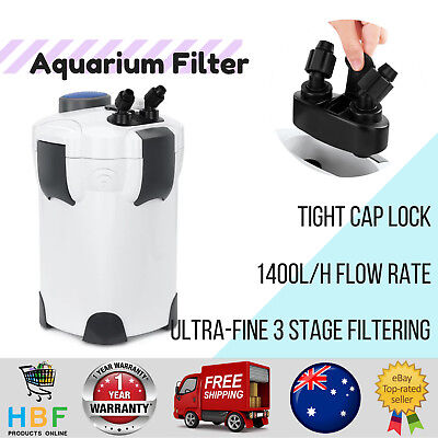 Pawever Pets Aquarium Filter Fish Tank External Canister Water Pond Pump 240V