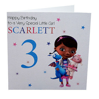 Doc Mcstuffins 3rd Birthday Card Daughter Sister Niece