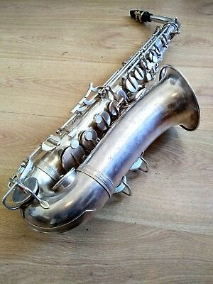 Rare Alto Saxophone - Made In Paris - Beautiful Silver - Plays Great -No Reserve