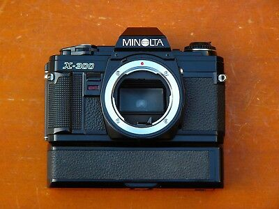 Minolta X-300 35mm Film SLR In Good Working Condition Plus With Motor Drive Unit