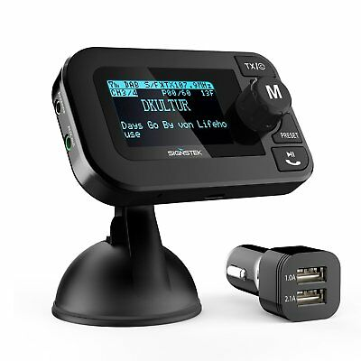 Car DAB+ Digital Radio 5 in 1 with Bluetooth FM Transmitter Receiver and Car Kit