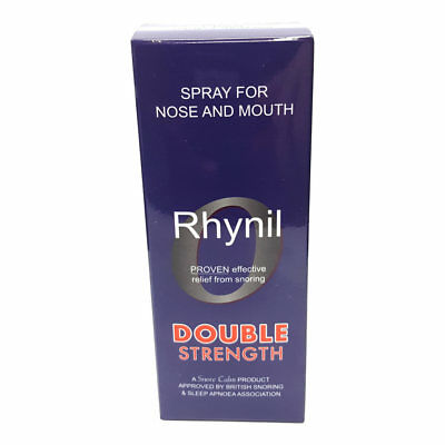 Rhynil Double Strength Spray for Nose & Mouth Anti Snoring Herbal Spray
