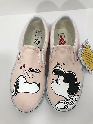 079d759a81043e  New  Vans Peanuts Lucy   Snoopy Smack Kids Size 13 Classic Slip On Shoes