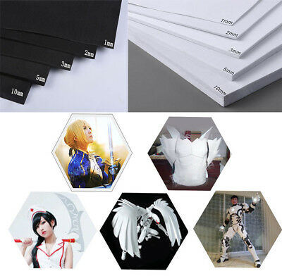 1~10mm 45° EVA Foam Sheets 35x50cm Kids Handmade DIY Craft Cosplay Model AU