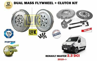 For Renault Master 2.3 Dci Manual 2010--> New Dual Mass Flywheel + Clutch Kit