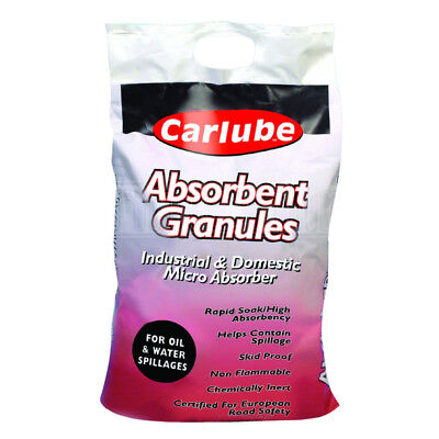 Carlube Absorbent Granules Industrial Oil Liquid Spill 20L 9.5KG Bag Clean Up