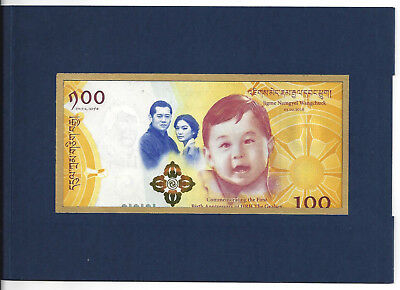 Bhutan 100 Ngultrum 2016 Commemorative + Original Folder Unc P New