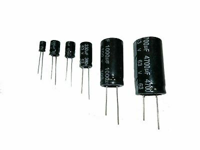 Electrolytic Capacitor ±20% 105°C Radial 10v - 100 volt Packs of 10, 25, 50