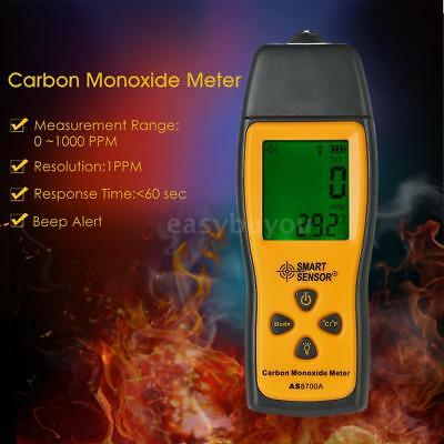 SMART SENSOR Handheld Carbon Monoxide Gas Detector Tester Monitor LCD Display