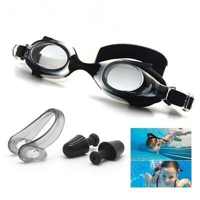 Swimming Goggles Nose Clip Ear Plugs Set for Children Boys Girls Junior Kids
