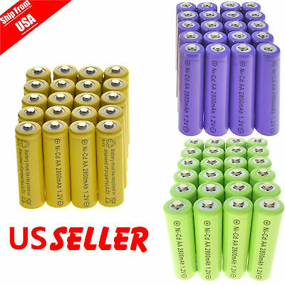 20 AA Rechargeable Batteries NiCd 600mAh 1.2v Garden Solar Ni-Cd Light LED A20