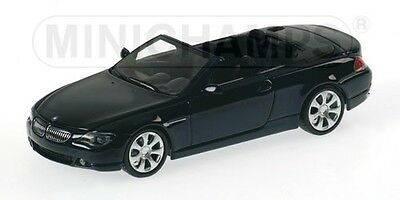 1/43 Bmw 6-Series Cabriolet (E64) 2006 Dark Blue Metallic Minichamps